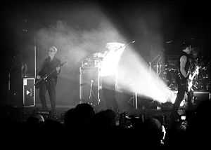Photo of Bauhaus in concert at the Brixton Aca...