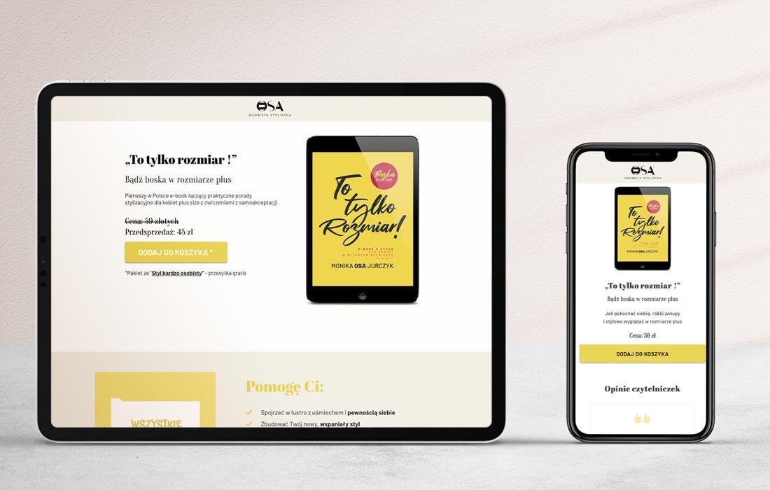 Landing page i sklep internetowy ebooka