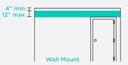 smoke detector install diagram wall