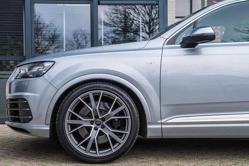 Audi SQ7 4.0 TDI Quattro Pro Line + , 435 PK, Valcona/Leder, Pano/Dak, 2017, Bose, 22'', Elekt. Trekhaak, 79DKM!! afbeelding 7