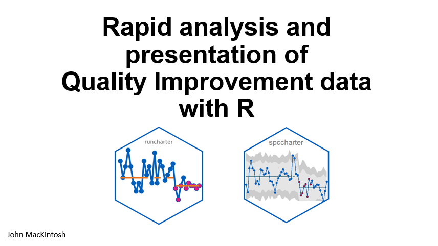 Rapid Analysis and Presentation of Quality Improvement Data with R