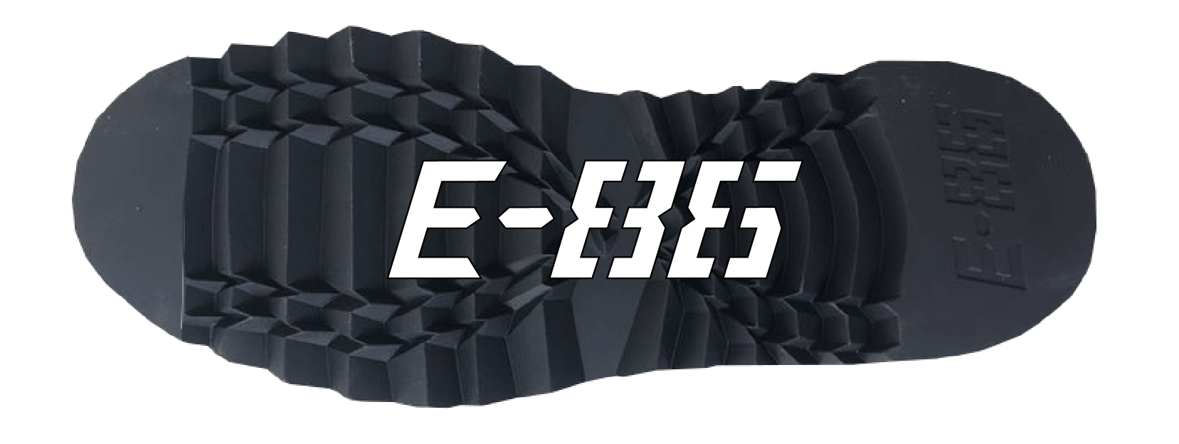 Ben Harkham's logo E-86 on shoe sole