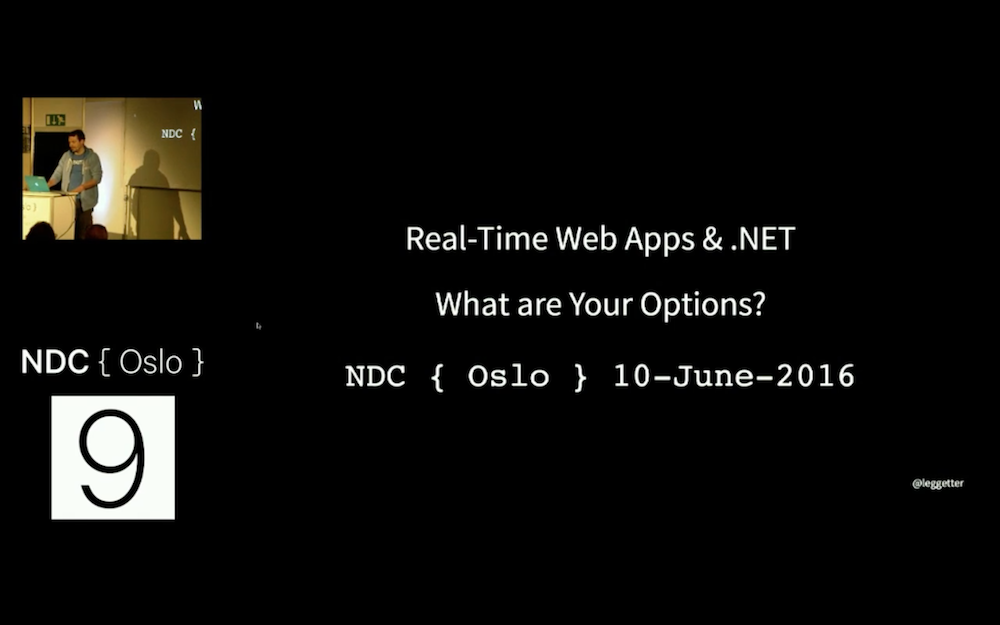 Talking Real-Time Web Apps and .NET at NDC Oslo