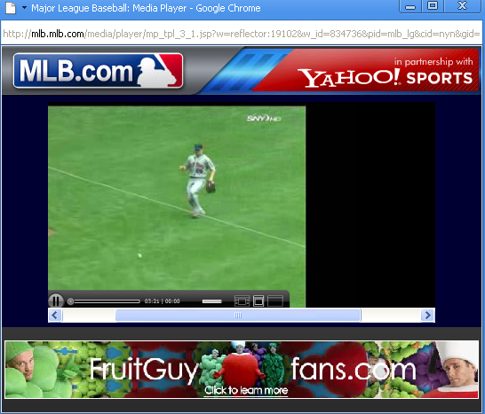 A mets game on chrome.