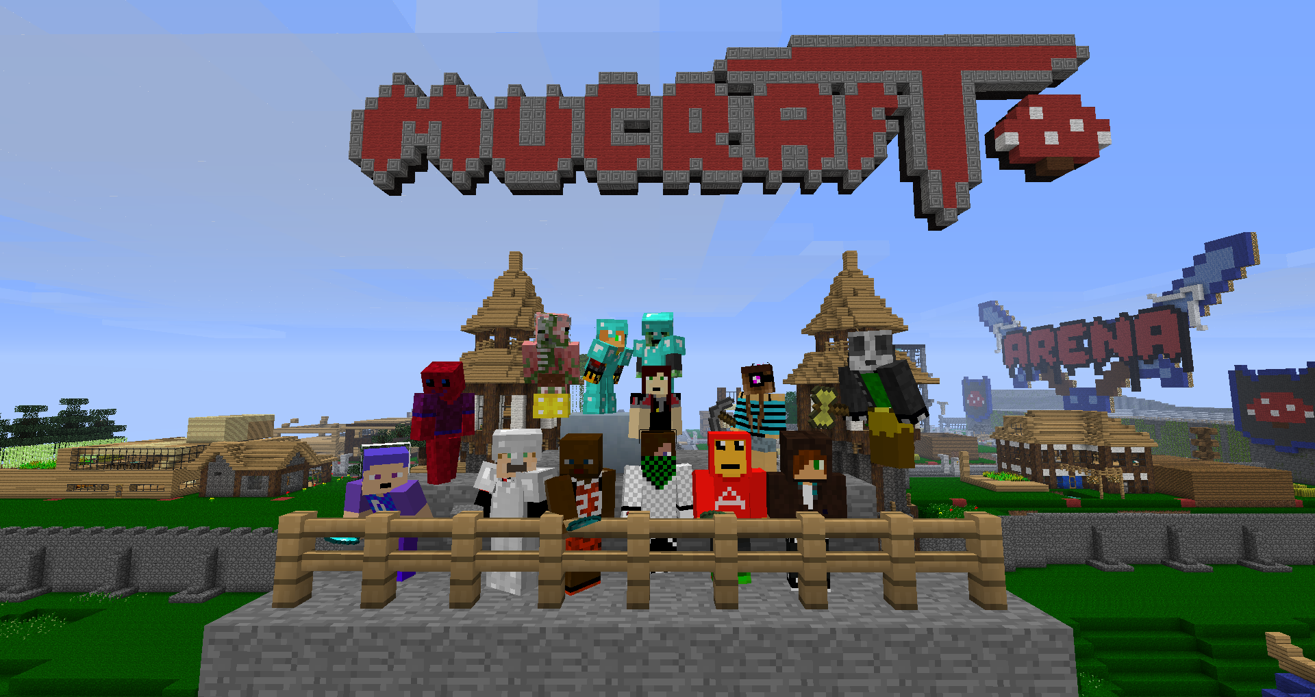 Screenshot from the minecraft server MuCraft 2012