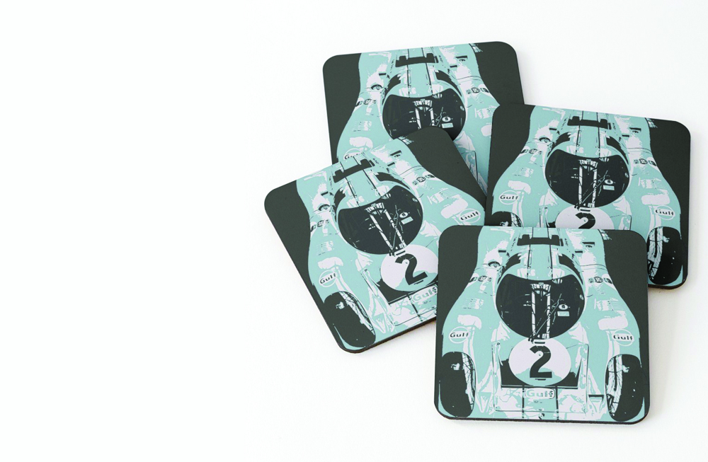 Porsche 917K Coasters (Set of 4) by thespeedart