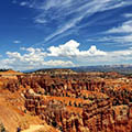 wide view of a trail at Bryce Canyon.