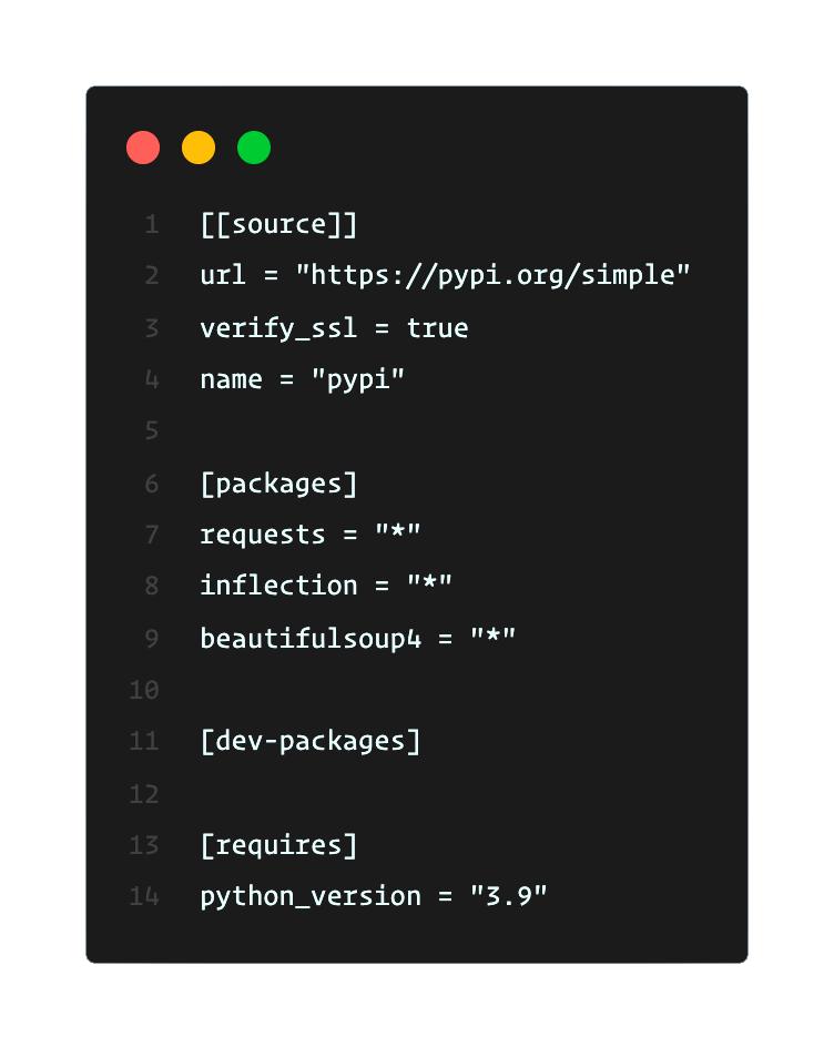Pipfile Python