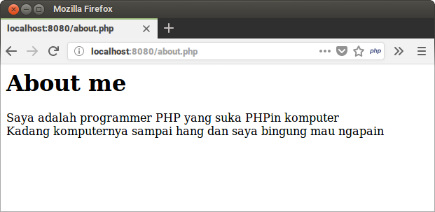 PHP About Me Program