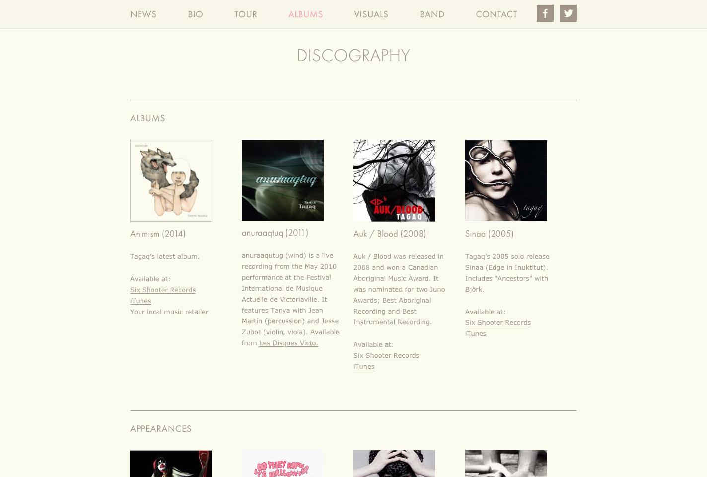 Tanya Tagaq discography