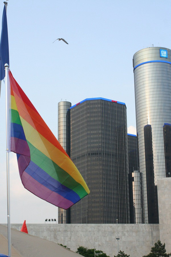 GM RenCen Gay Pride