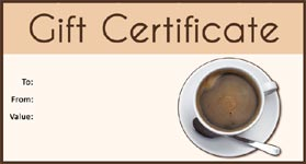 Gift Certificate Template Coffee 01