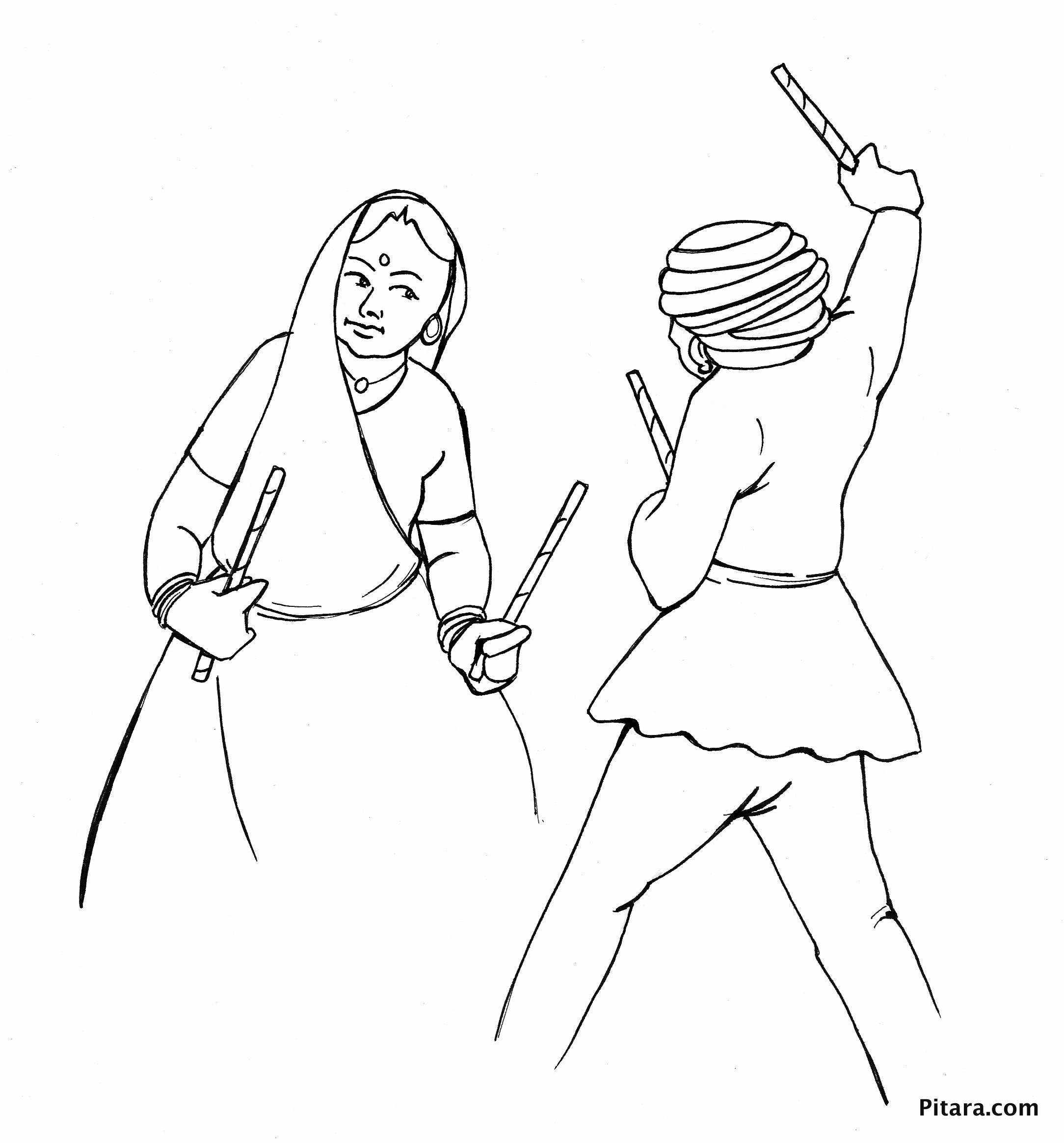 Dandia dancers