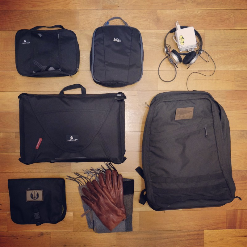 Goruck GR1 is great for travel, but quickly gets heavy due it's build materials and it's open flat compartment that holds alot