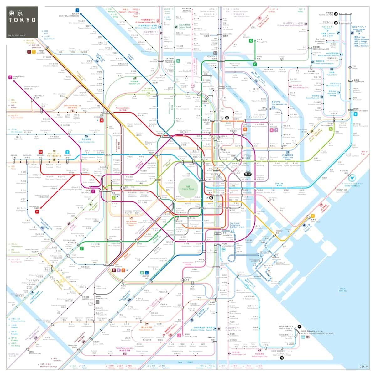 Subway map by Jug Cerovic