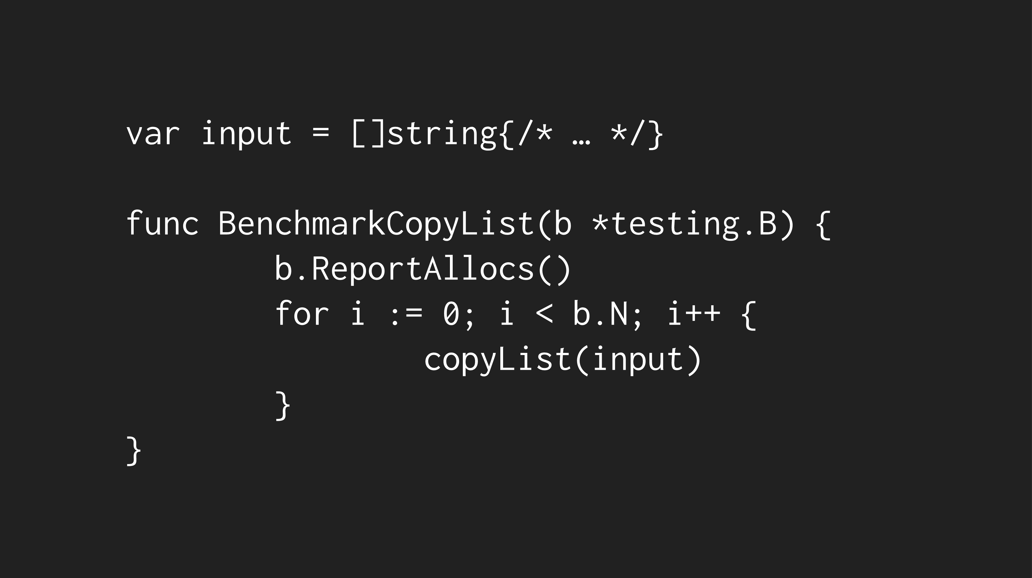 Benchmark Code
