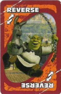 Shrek 2 Orange Uno Reverse Card