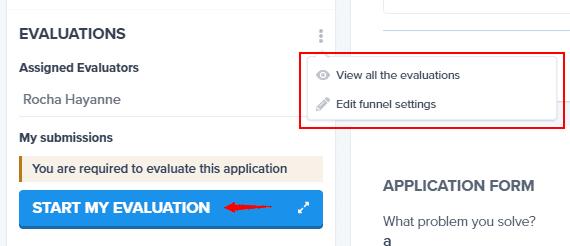 Start evaluation