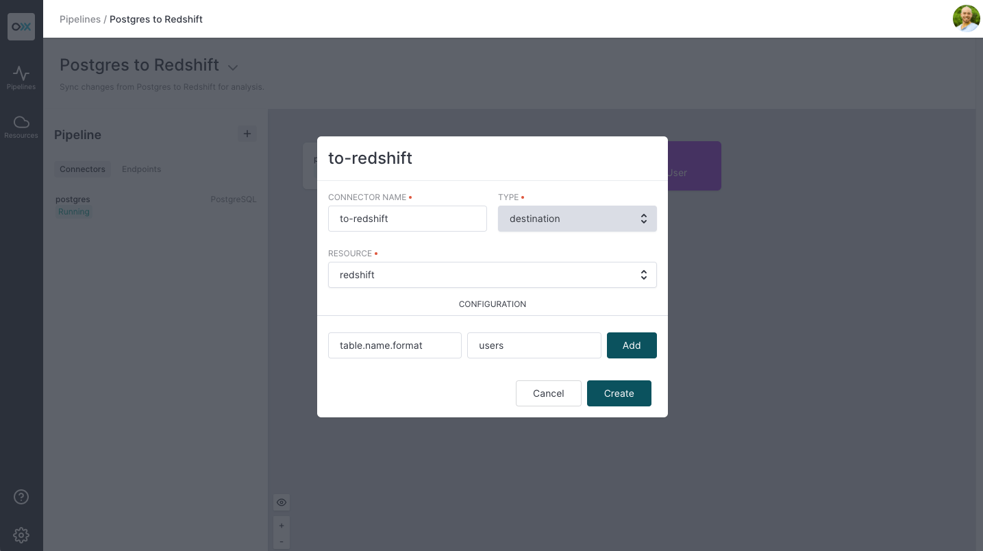 Configure Redshift Connector