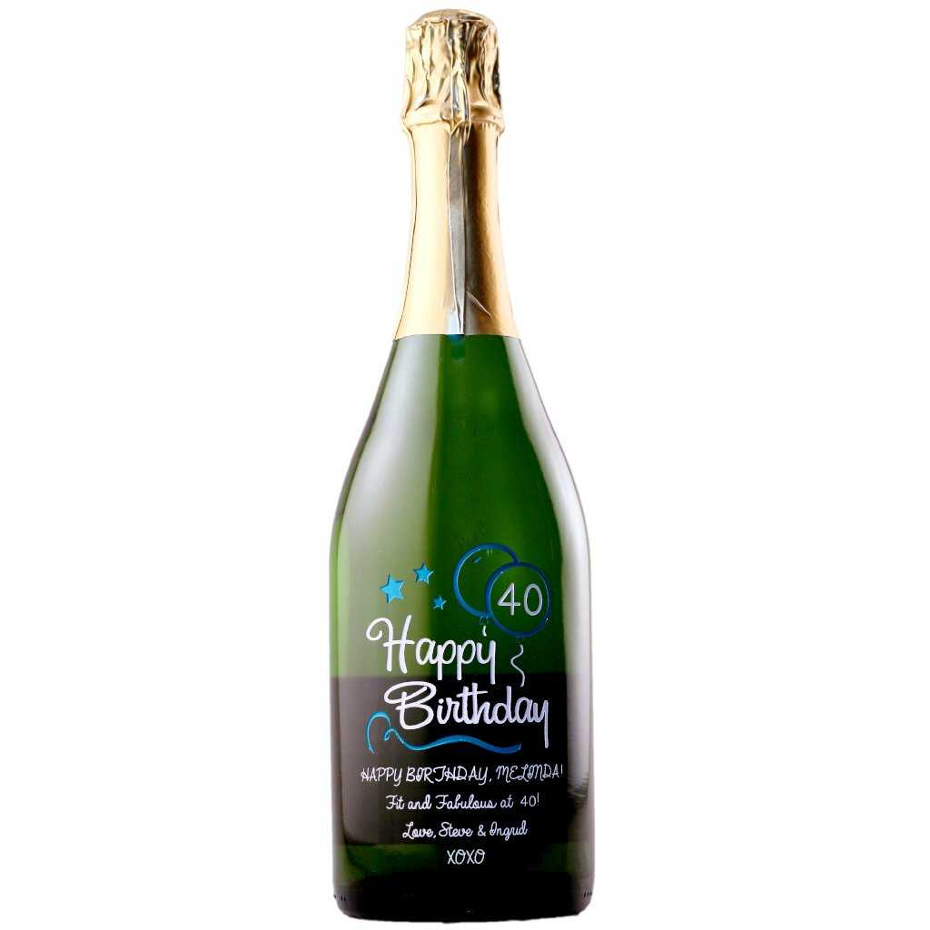 personalized birthday champagne
