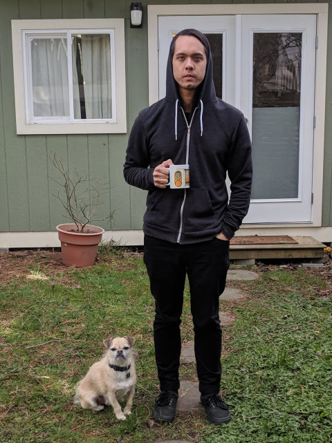 photo of Adam J Bragg and his amazingly cute dog Peanut