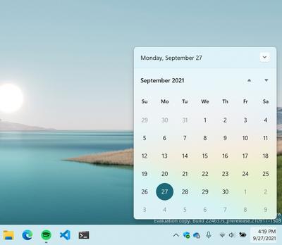 The new notification center/clock interface