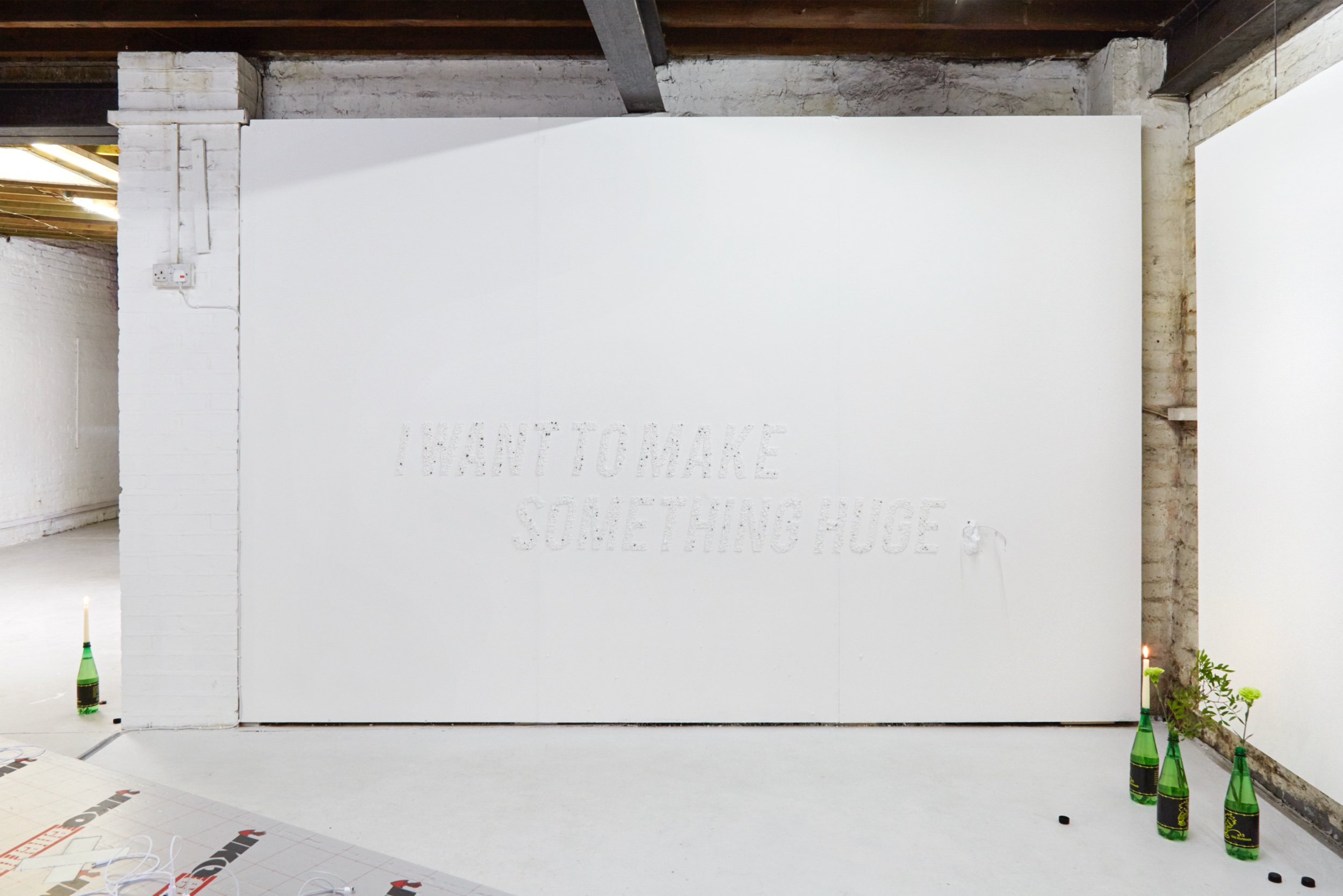 I want to make something huge, Camille Yvert, Sluice HQ, curated by IKO