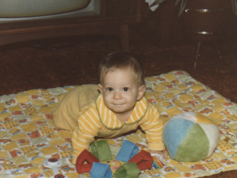 Photo of me as a baby.