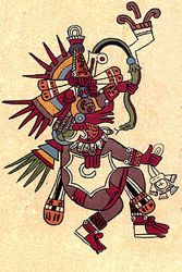Quetzalcoatl. Bourbon Codex.