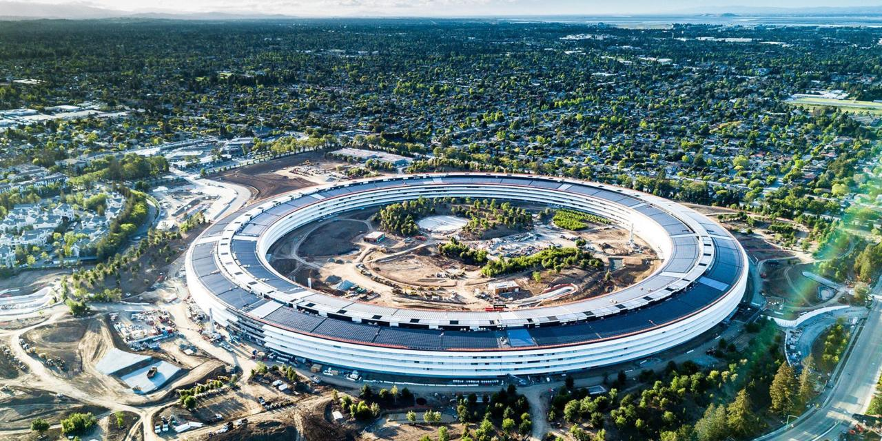 image of Apple headquarters in Silicon Valley