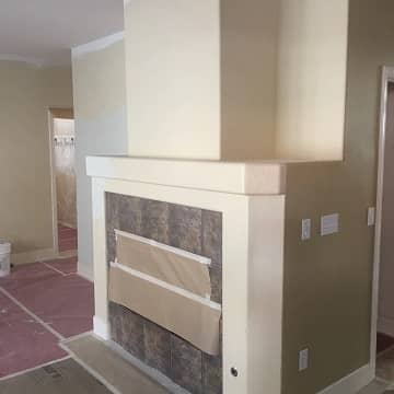 custom made closet shelving painted white