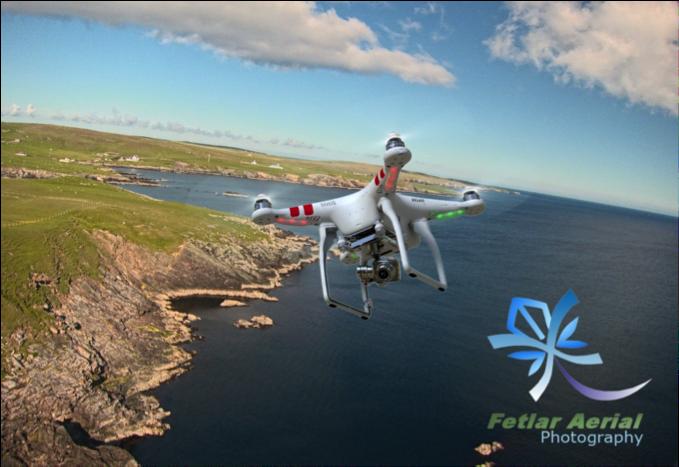 Fetlar Aerial drone