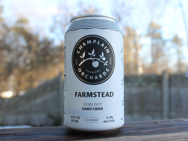 Farmstead, a Semi Dry Hard Cider brewed by Champlain Orchards