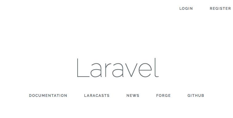 Laravel's 5.3 default landing page