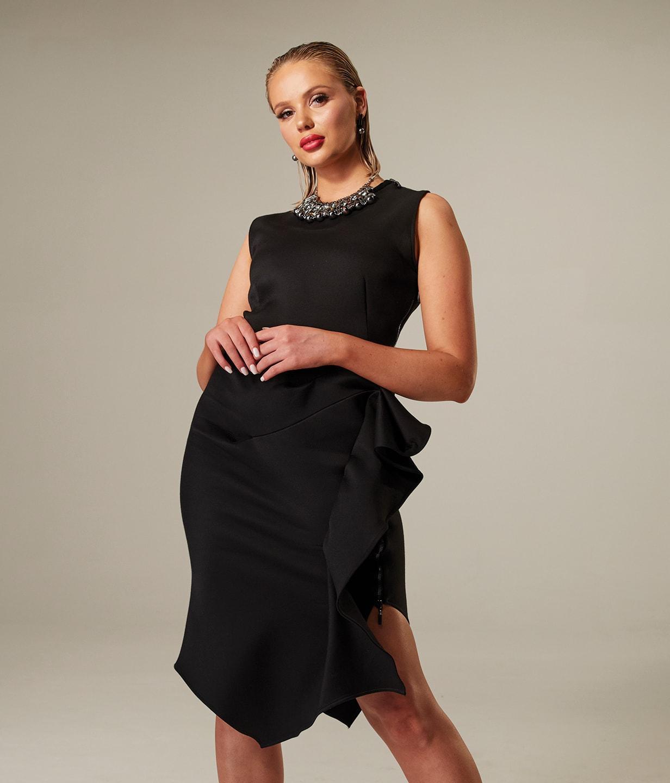 Women in black dress