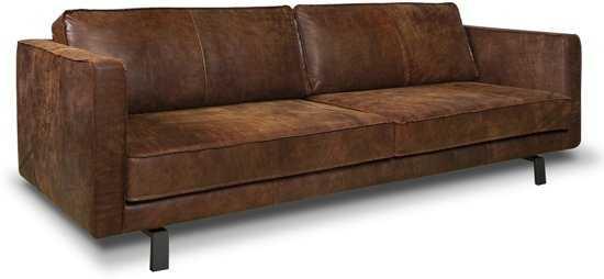 Isofa Bjorn 3 Zitsbank Leer Cognac 9200000057897623_1 55 cm