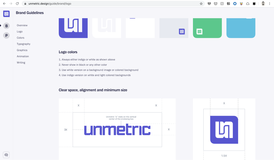 Unmetric.design logo usage guidelines