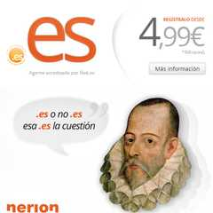 Shakespeare o Cervantes - Registra dominio .es