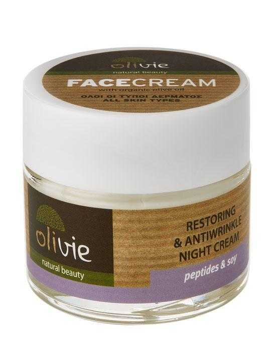 Restoring and anti-wrinkle night cream with soy – 60ml
