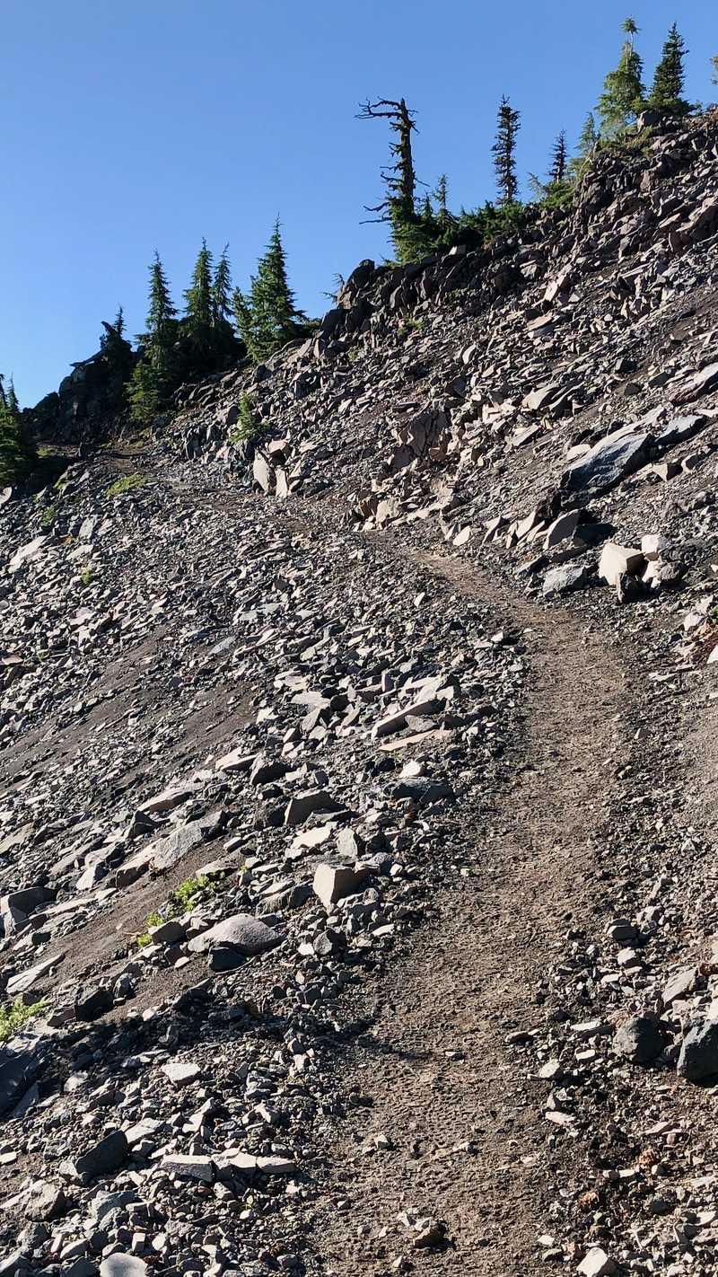 Smoother trail on Devils Peak