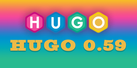 Featured Image for Hugo 0.59.0