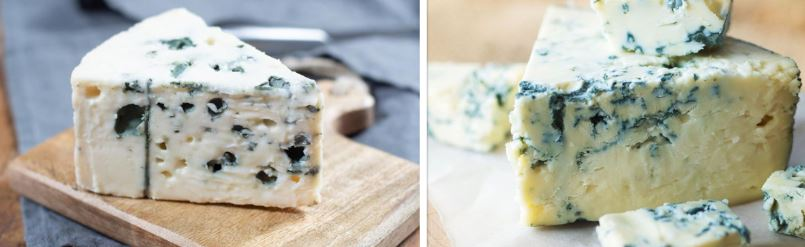 blue and Roquefort cheese