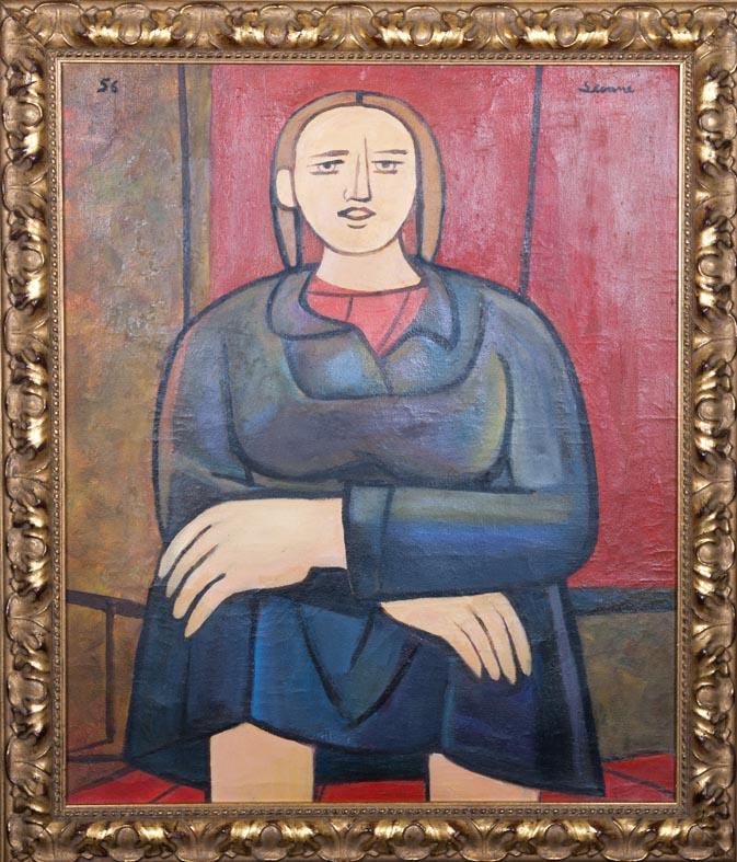 Luis Seoane - oleo lienzo - 60x54 cm · óleo/lienzo