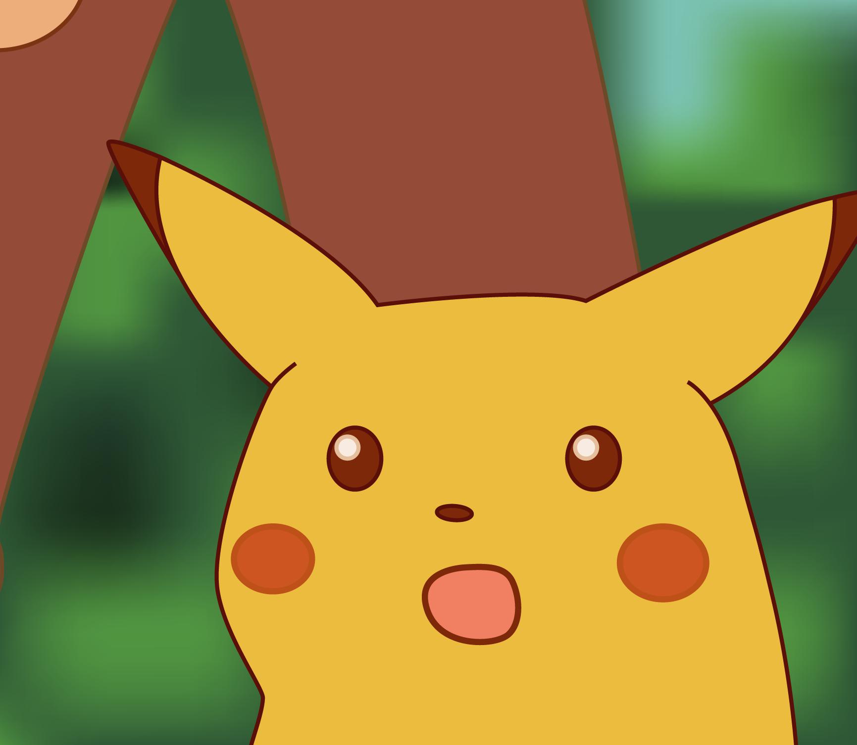 pikachu com cara de surpreso