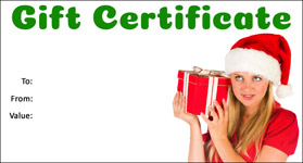 Gift Certificate Template Christmas 09