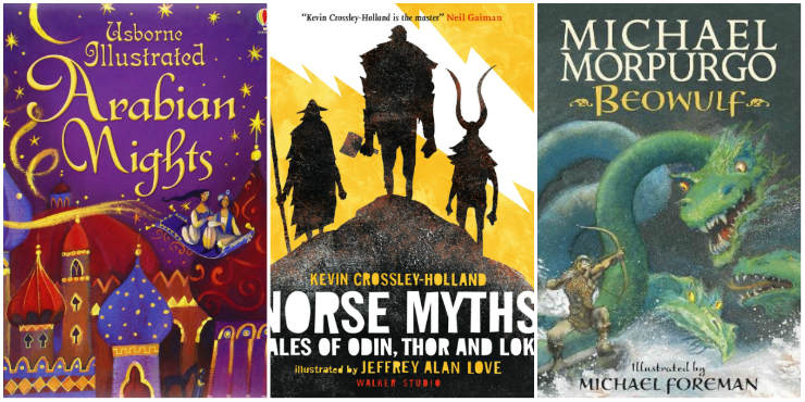 Arabian Nights, Norse Myths, Beowulf