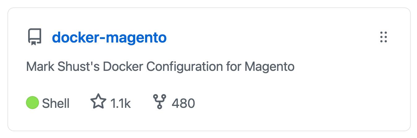 GitHub stars for docker-magento