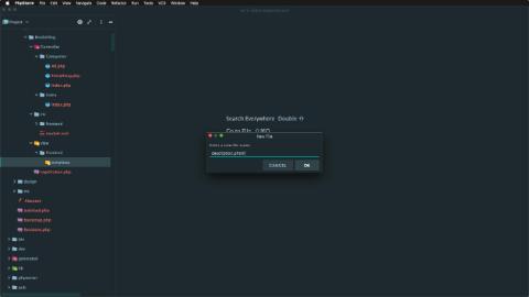 Create a new template file