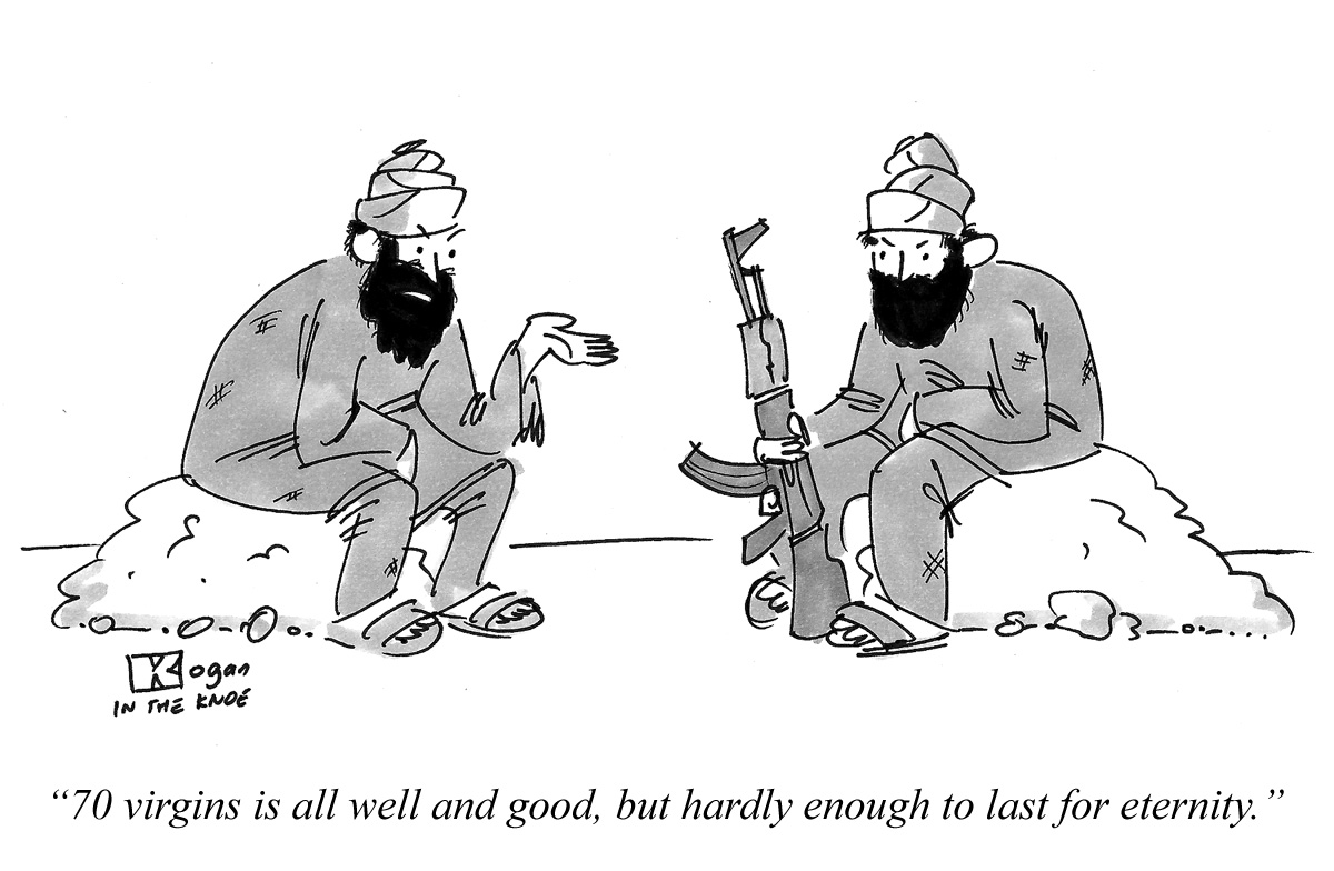 70 virgins is all well and good, but hardly enough to last for eternity.