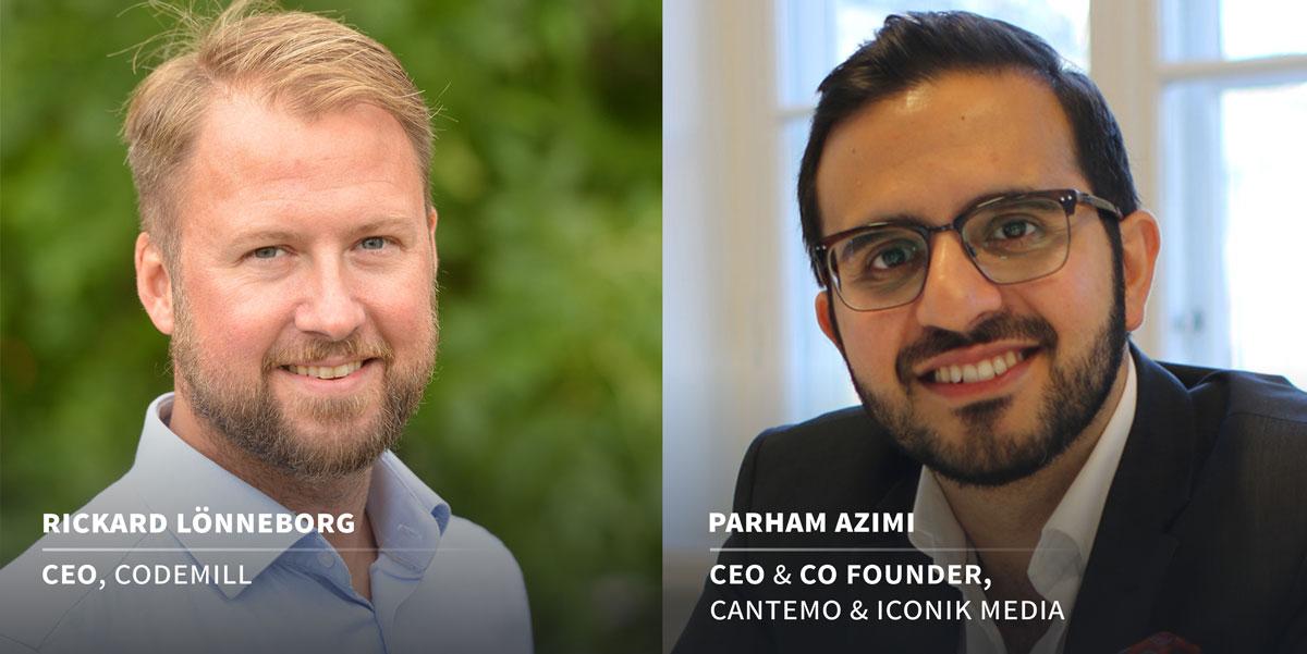 Codemill and Cantemo CEOs